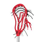 Evolution 3X Lacrosse Head (Strung) - Red
