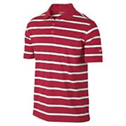 Men's Stretch UV  Stripe Polo - Red