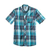 Men's Larchmont S/S Woven - Green Patterned