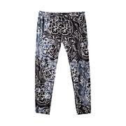 Women's Batik Pant - Black Patterned