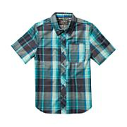 Boys' Larchmont S/S Woven Shirt - Green Patterned