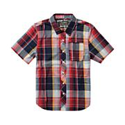 Boys' Larchmont S/S Woven Shirt - Red Patterned