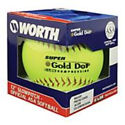 Super Gold Dot .44 cor Slowpitch Softball - Yellow
