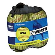 NCAA Fast Pitch Softballs - 4 Pack