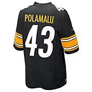 Men's Steelers Polamalu Game Jersey - Black