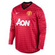 Men's Manchester United Long-Sleeve Replica Jersey - Red