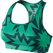 Women's Pro Printed Bra - Green Patterned