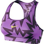 Women's Pro Printed Bra - Purple Patterned