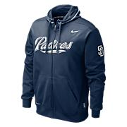 Men's Padres TKO Therma-FIT Zip Hoody - Navy / Dark Blue