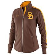 Women's Padres Dri-FIT Tempo Track Jacket - Brown