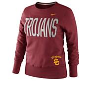 Women's USC Classic Fleece Crew - Red