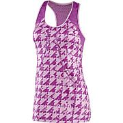 Women's PowerLuxe Houndstooth Tank - Pink Pattern