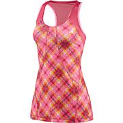 Women's Powerluxe No Fuss Plaid Tank - Pink Pattern