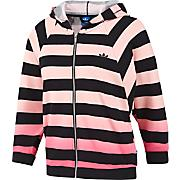 Women's Striped Crop Track Top - Coral