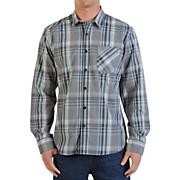 Men's Ex Factor Plaid L/S Woven Shirt - Gray Patterned