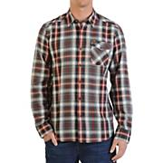 Men's Cruz L/S Woven Shirt - Red Patterned