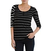 Women's Sugarhill Stripe L/S Top - Black