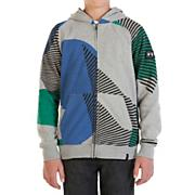 Boys' Vacation Full Zip Fleece - Gray Patterned