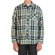 Boys' Cruz L/S Woven Shirt - Blue Patterned