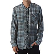 Men's Burn Around L/S Woven Shirt - Black Patterned