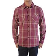 Men's Why Factor Plaid L/S Woven Shirt - Maroon / Dark Red