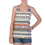 Women's No Relief Tank Top - Gray Patterned