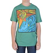 Boys' St Bart's Mural Tee - Light Green /  Lime