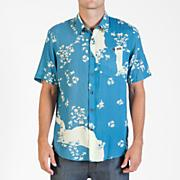 Men's Stonepede S/S Woven - Blue Patterned