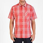 Men's Why Factor Plaid S/S Woven - Red Patterned