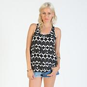 Women's Skate Shaman Tank - Black Patterned