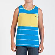 Boy's Black Out Stripe Tank - Blue