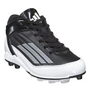 Youth Scorch TD MD Mid Football Cleat - Black