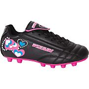 Girls' Retro Hearts Soccer Cleat - Black / Pink