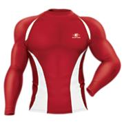 Qualifier Compression L/S Shirt - Red