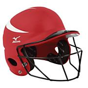 MVP Batter's Helmet w/FP Mask - Red