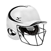 Fastpitch MVP G2 Batting Helmet w/ Mask - White