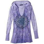 Women's Chai Hoodie - Purple Patterned