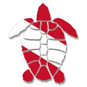 Dive Flag Bumper Sticker - Turtle