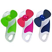 Fan/Light with Carabiner