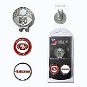 San Francisco 49ers Golf Cap Clip & Ball Markers