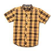 Men's Rambler Plaid Short Sleeve Woven Shirt - Yellow Patterned