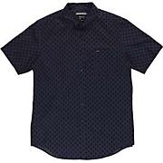 Men's Falling S/S Woven Shirt - Navy / Dark Blue