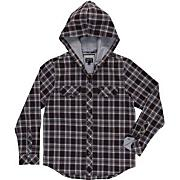 Boys' Radi Bounds Hood L/S Woven Shirt - Black Patterned