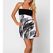 Women's Enamour Dress - White Patterned