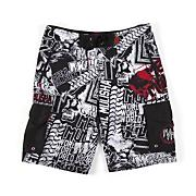 Men's Dlush IV Boardshort - Black Patterned