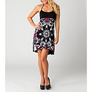 Women's Bandanarama Dress - Black Patterned
