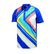 Men's Duo-Swing Graphic Polo - Blue