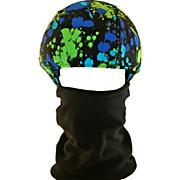 Helmet Cover/Mask, Blue/Green Splash