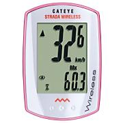 STRADA WIRELESS Cycling Computer, Pink/White