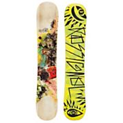 Men's 2013 Angus Amptek Midwide Snowboard 162 Yellow Tan